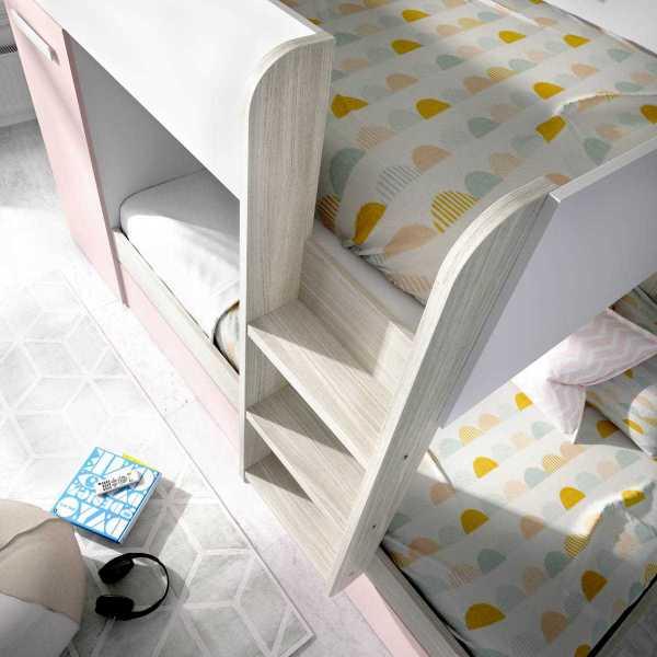 cama tren 3 camas tom rosa