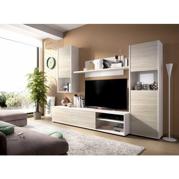 composicion salon tv blanco brillo 3