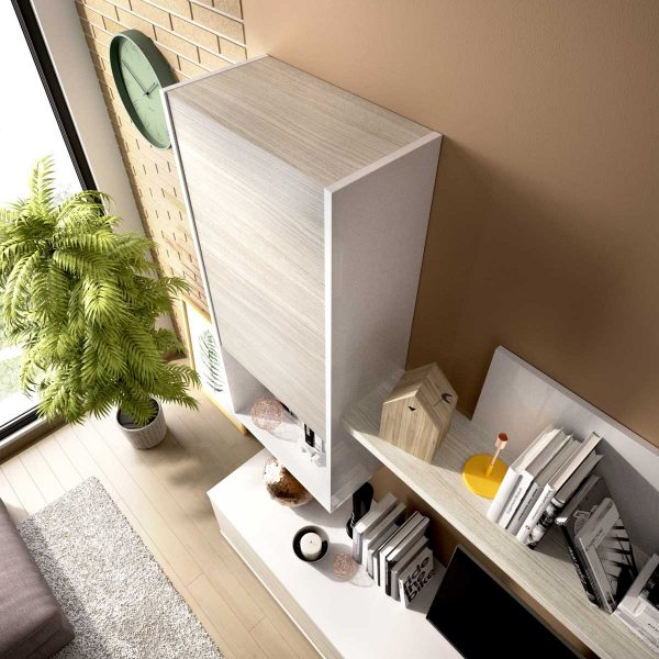 composicion salon tv blanco brillo 5
