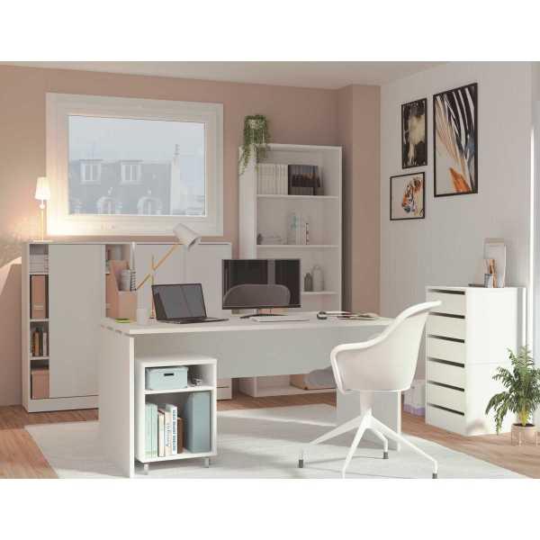 conjunto mesa escritorio blanca