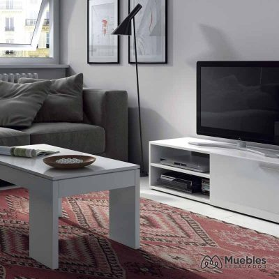 Conjunto muebles tv y mesa de centro 001637BO-006670BO