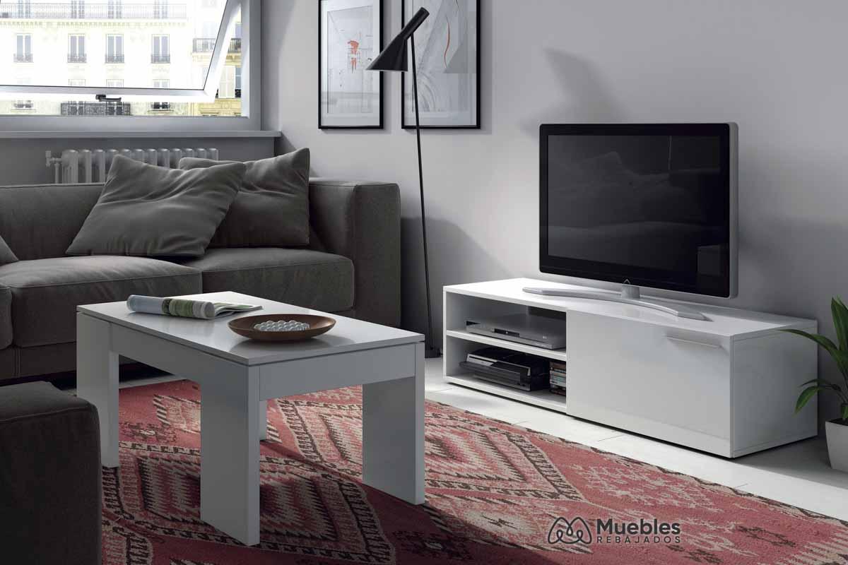 Conjunto mueble tv y mesa de centro 001637BO-006670BO