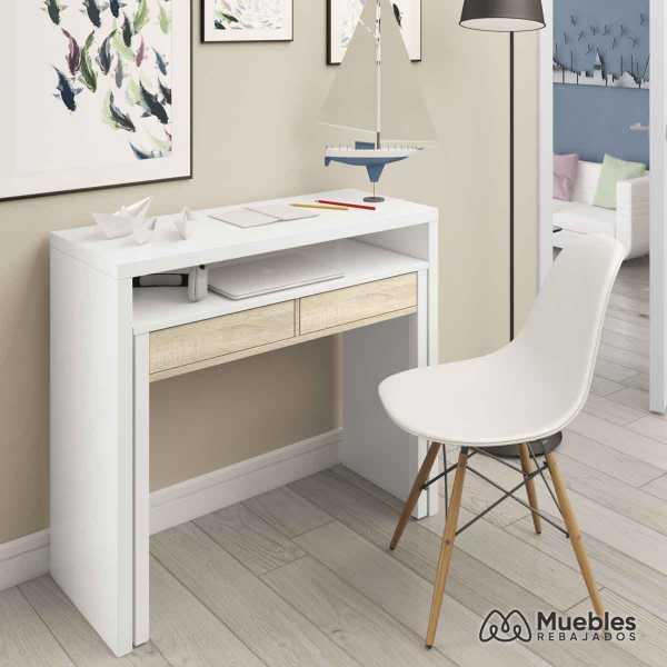 consolas y recibidores modernos blanco y madera 0f4582a