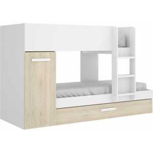 dormitorio juvenil 3 camas blanco 2
