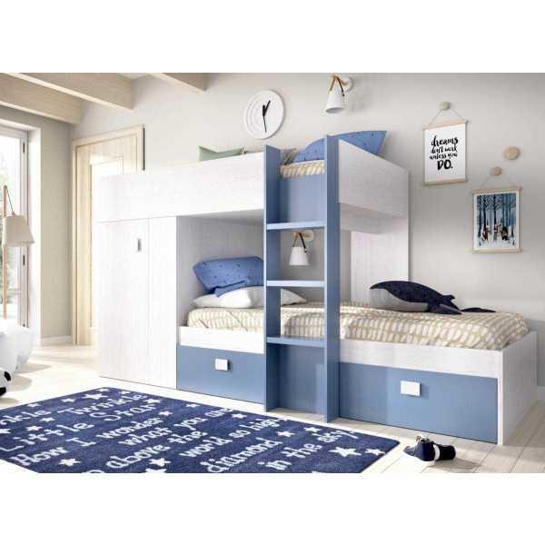 dormitorio tren con armario y 2 cajones 1