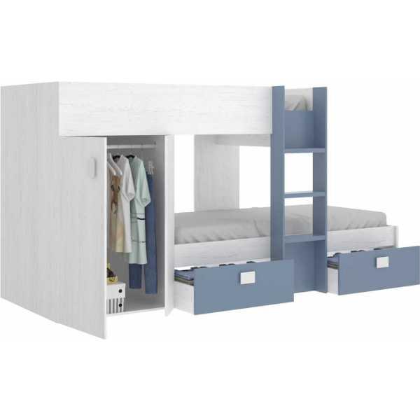 dormitorio tren con armario y 2 cajones 2