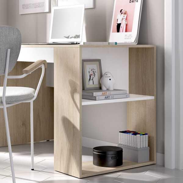 escritorio con estante y 1 cajon 1