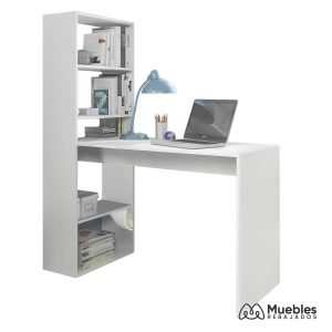 escritorio con estanteria incorporada blanca 008314a