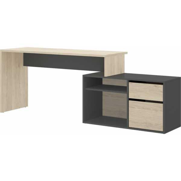 escritorio en forma de l natural grafito 1