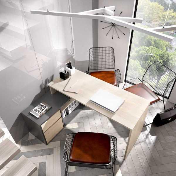 escritorio en forma de l natural grafito 4
