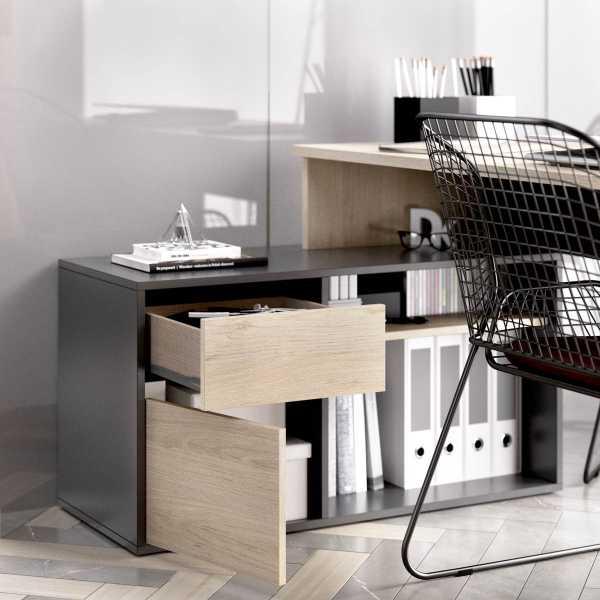 escritorio en forma de l natural grafito 5