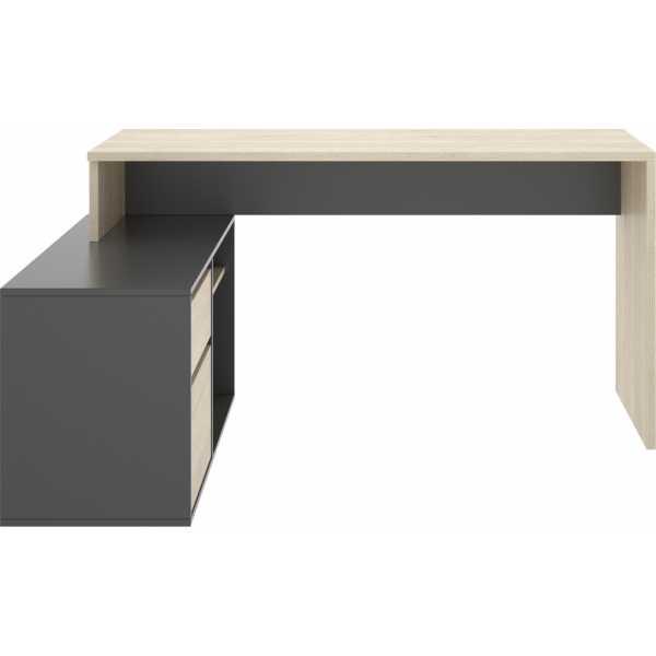 escritorio en forma de l natural grafito