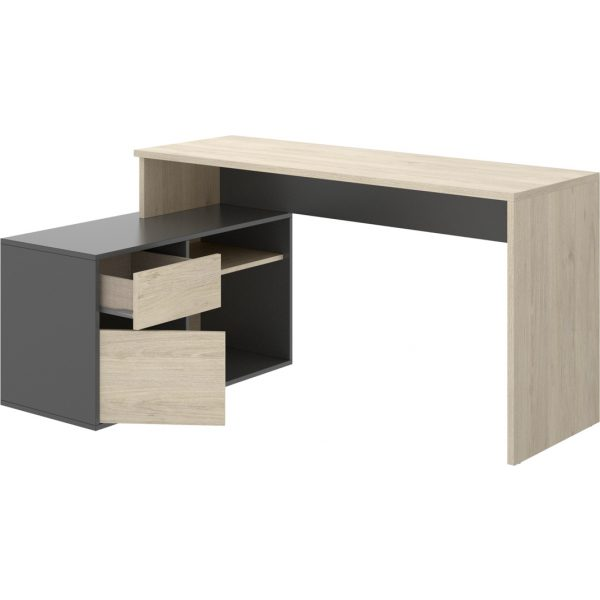 escritorio en forma de l natural grafito 7