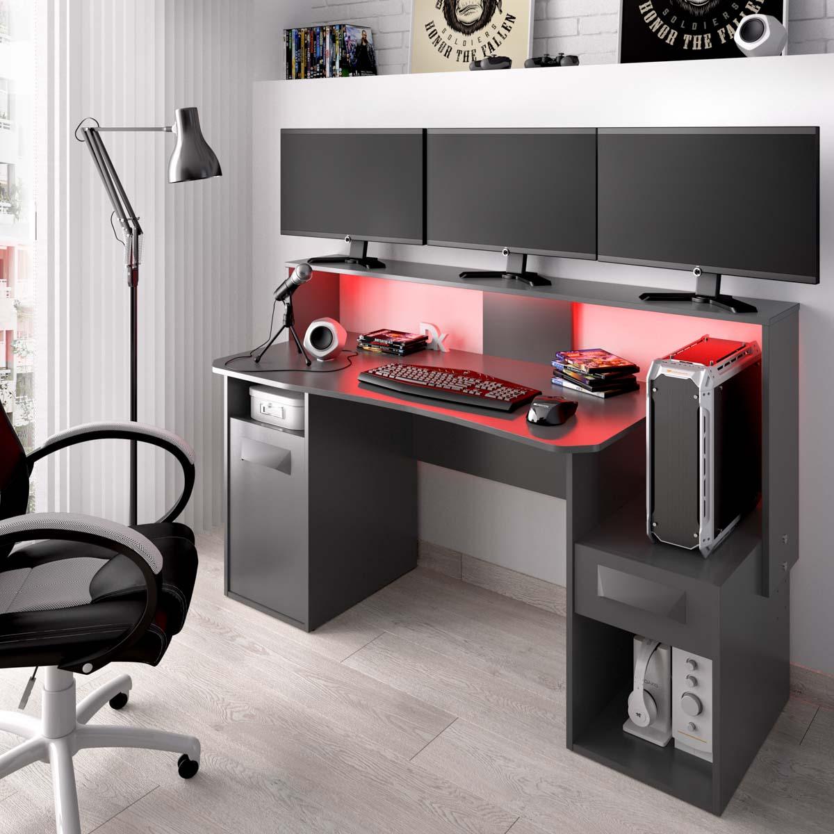 escritorio gaming con leds 1
