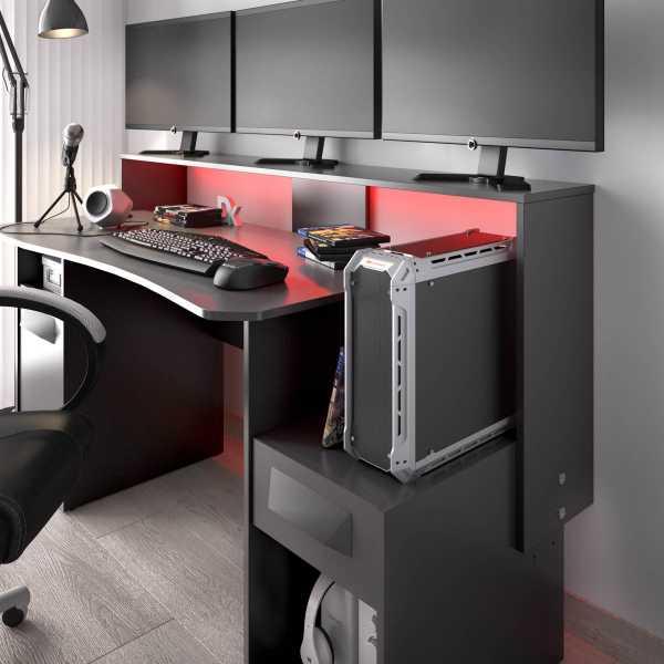 escritorio gaming con leds 12