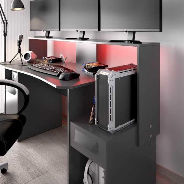 escritorio gaming con leds 14
