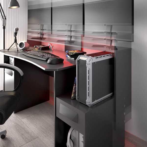 escritorio gaming con leds 15