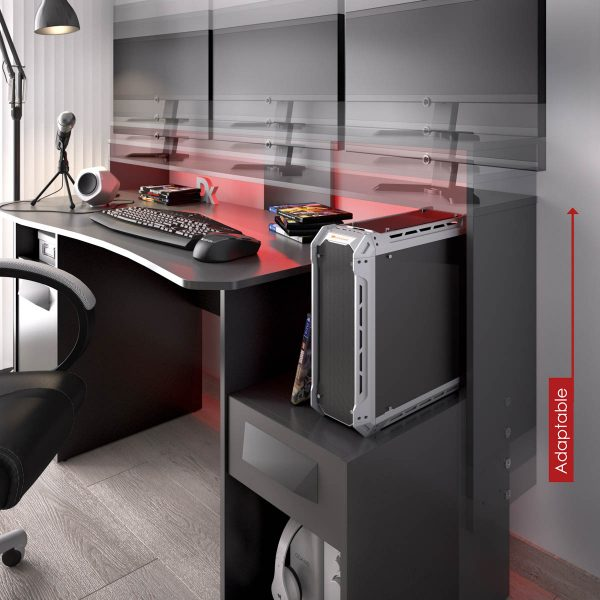 escritorio gaming con leds 16