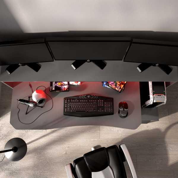 escritorio gaming con leds 19