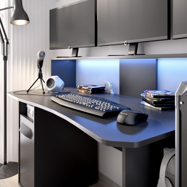 escritorio gaming con leds 7