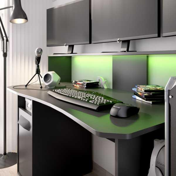 escritorio gaming con leds 8