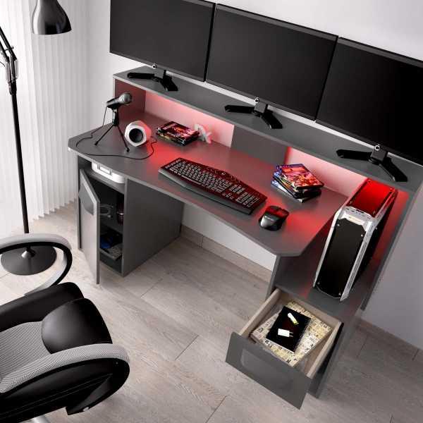escritorio gaming con leds 9