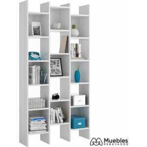 estanterías modernas de pared blanca 002257a