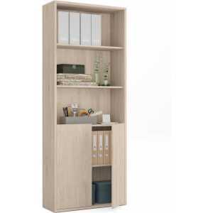 estanteria alta madera