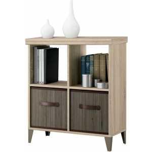 estanteria baja madera