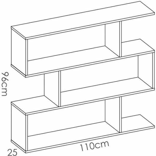 estanteria baja roble 4