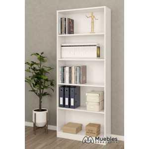 estanteria blanca libros 005626a