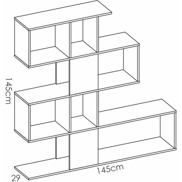 estanteria zig zag 4