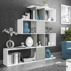 estanterias con cajas de madera moderna 1l2251a