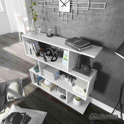estanterias de madera baratas blancas 301010bo