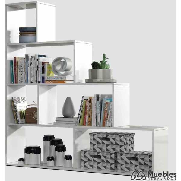 estanterias de madera blanca 002255bo