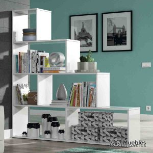 estanterias de madera blanca escalera 002255bo