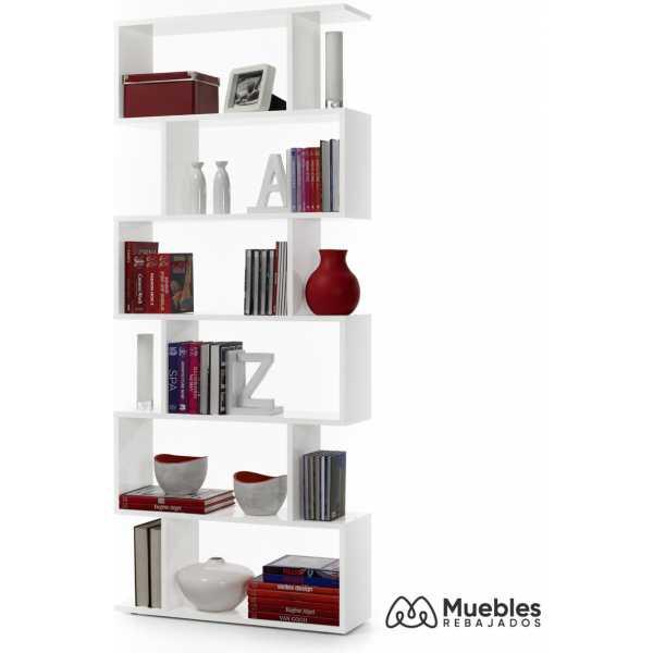 estanterias madera blanca alta 301011bo