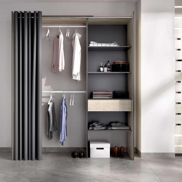 kit vestidor con 1 cajon y cortina 1