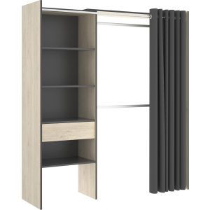 kit vestidor con 1 cajon y cortina 2