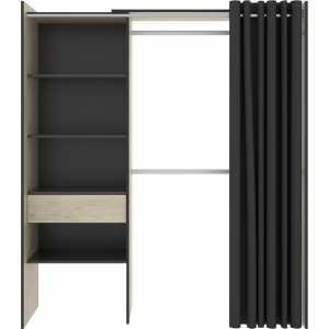 kit vestidor con 1 cajon y cortina
