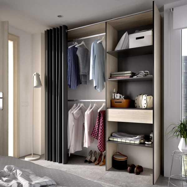 kit vestidor con 1 cajon y cortina 4