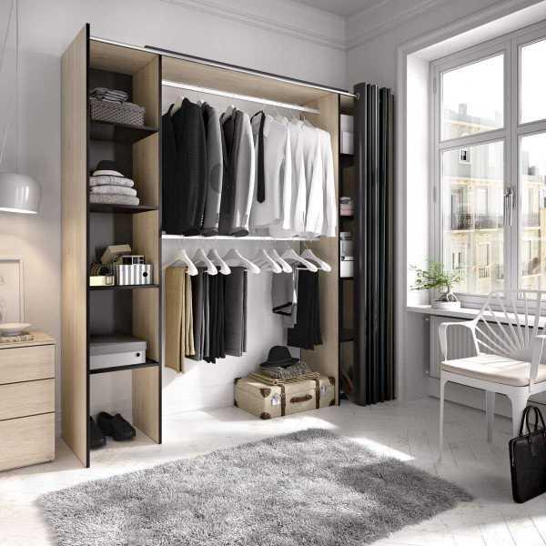 kit vestidor con cortina 5