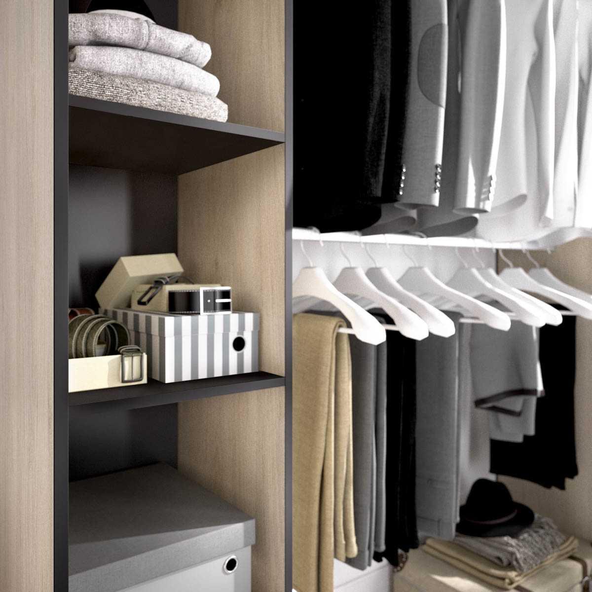 kit vestidor con cortina 8