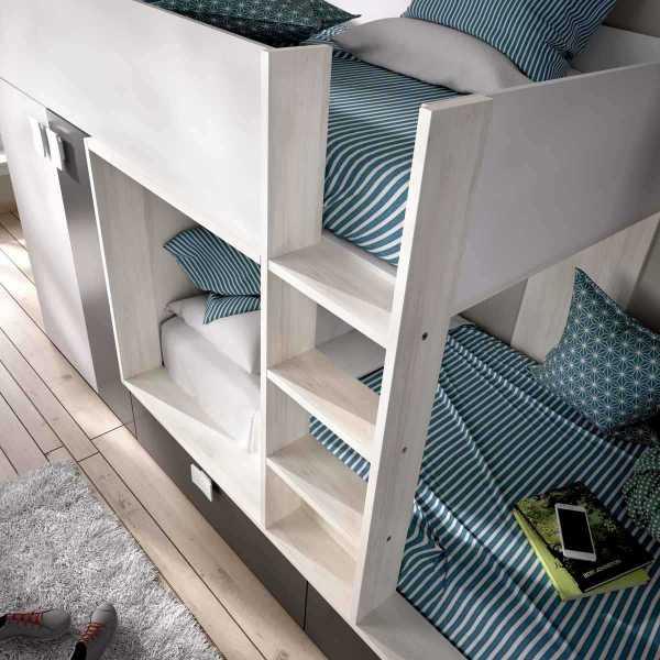 litera tren 2 camas con armario 1