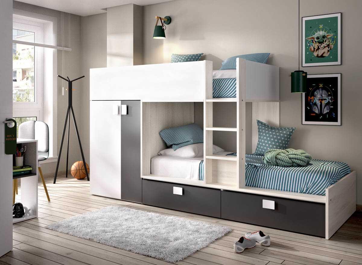 litera tren 2 camas con armario 2