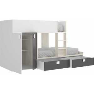 litera tren 2 camas con armario 3