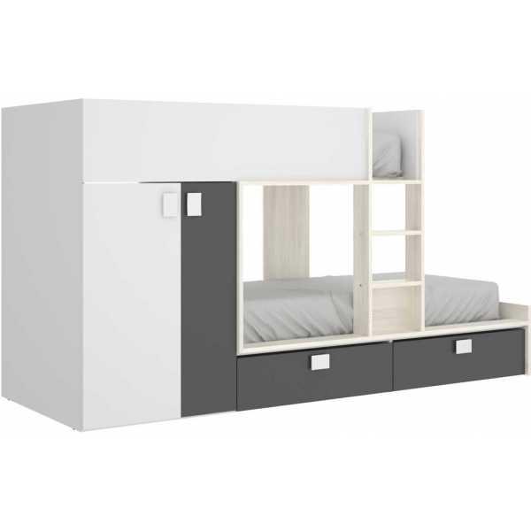 litera tren 2 camas con armario 4
