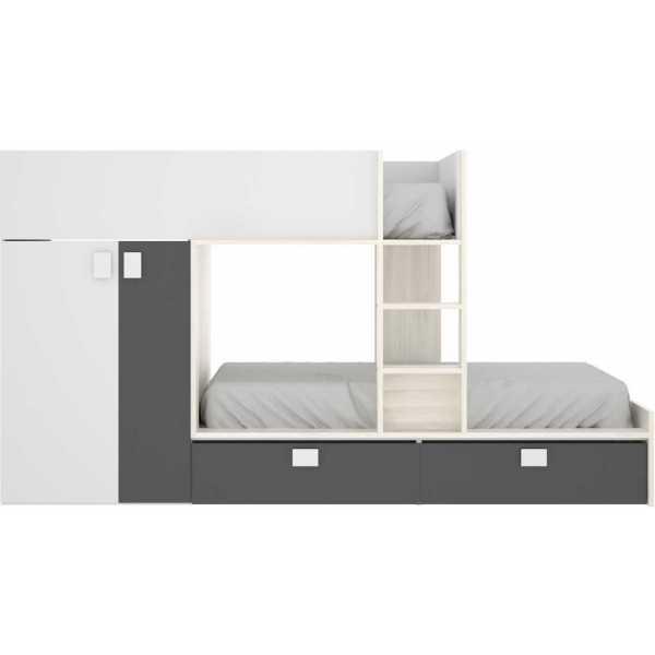 litera tren 2 camas con armario 5