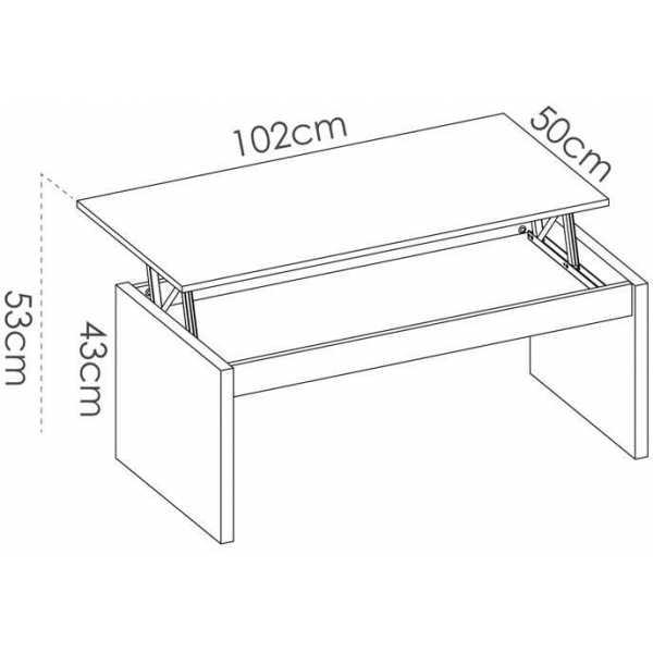 mesa centro blanco brillo