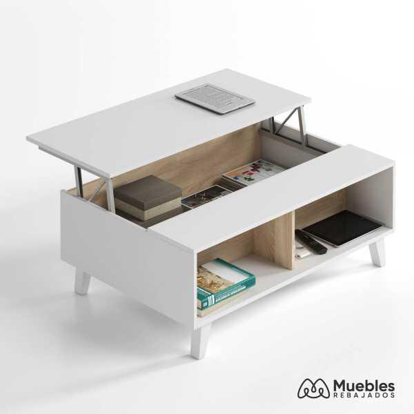 mesa centro de madera 0f6633bo
